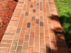 brick walkway, after cleaning