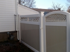 vinyl fence, after cleaning