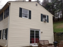 vinyl siding, after cleaning