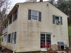 vinyl siding, before cleaning