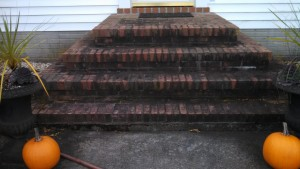Brick steps pressure cleaning in Westminster, Maryland 21157