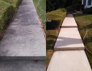 photo power washing cement sidewalk and driveway cleaning in Howard County Clarksville MD 21029