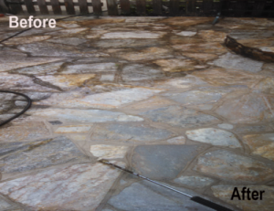 Slate patio power washing in Baltimore County Randallstown MD 21133