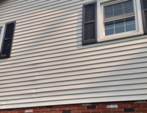 after photo vinyl siding soft wash power washing in Ellicott City MD 21041 21042